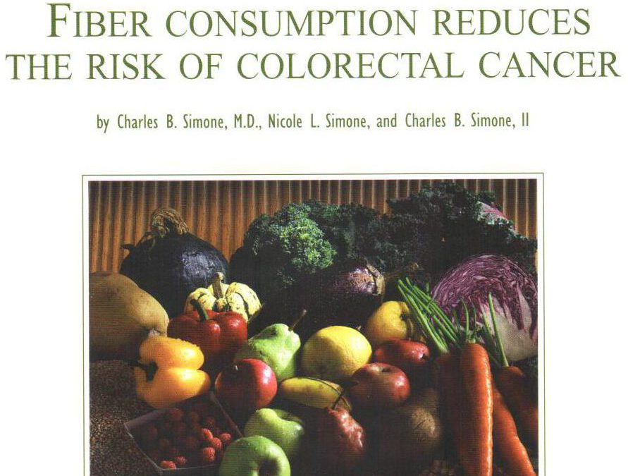 FIBER REDUCES THE RISK OF COLORECTAL CANCERS AND POLYPS