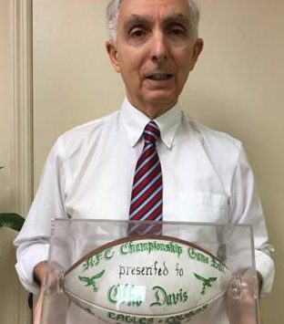 Otho Davis gave his 1981 AFC ball to Dr Simone