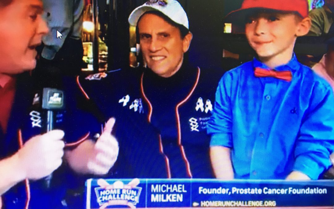 PROSTATE CANCER FOUNDATION, FOUNDER MICHAEL MILKEN WITH NICHOLAS
